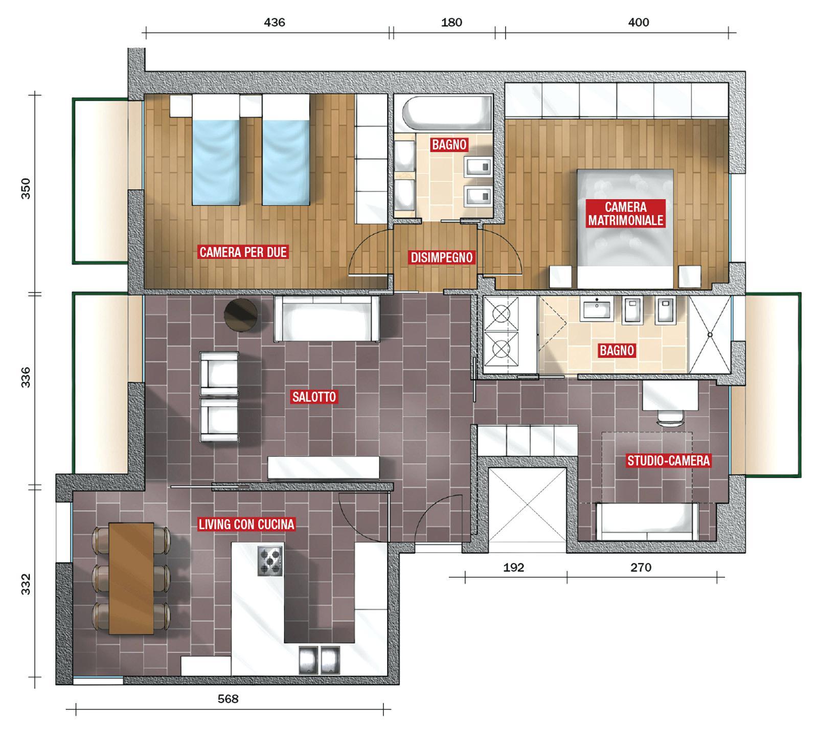 Nel definire come si progetta una casa, si parte sempre da una piantina