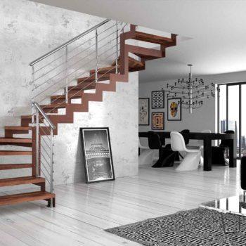 Scale per interni moderne- collegare con stile gli spazi abitativi
