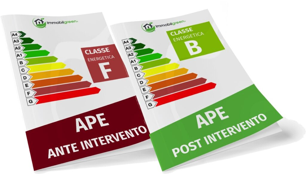 Superbonus 110%, APE pre e post intervento