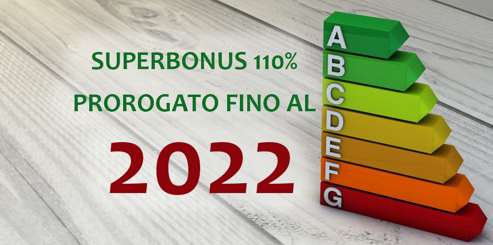 Superbonus 110% fino al 2022
